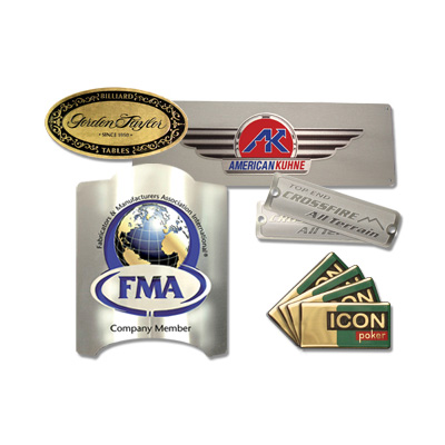 Metal Nameplates Corporate Identification