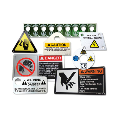 Metal Nameplates Safety Identification