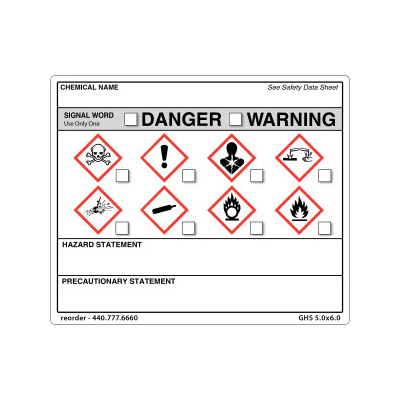 GHS Workplace Safety Labels