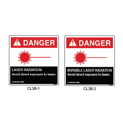 Laser Equipment Safety Labels