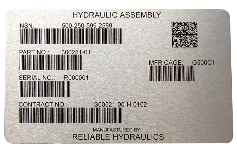 A machine-readable form presents information in a barcode or UID format.
