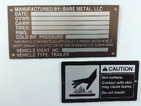 Count on solvent resistance from quality equipment nameplates.