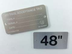 Expect wear resistance from quality nameplates.