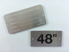 Expect wear resistance from quality equipment tags.
